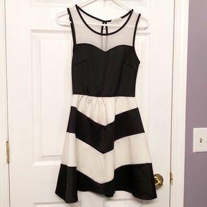 Charlotte Russe Black & White Knee Length Dress